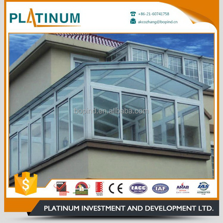 Aluminium profile modern design hot sale single pane sliding windows