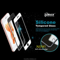 For High Quality 0.26mm 9H Hardness 3D silicone screen protector tempered glass screen protector for iPhone 6 / 6s / 6s plus