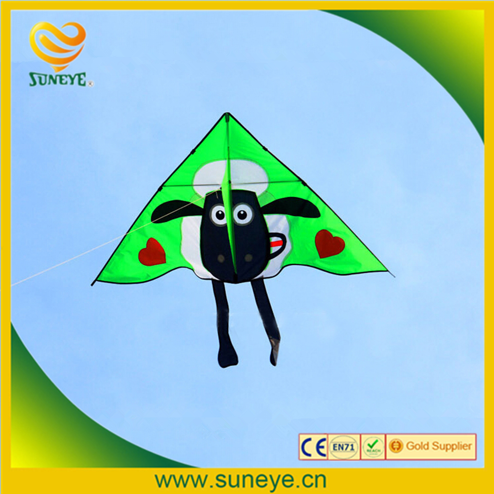 Single Line Kite With Kite Accessories 1.5M Beach Triangle Kite With Double Tail 100m Kite Line Flying Tool