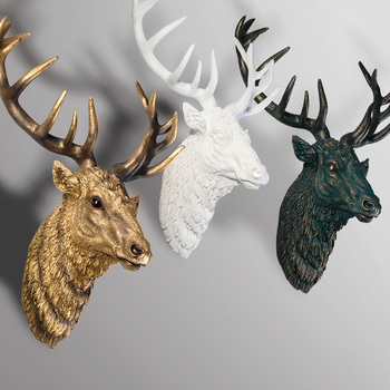 Hot sale home decor deer heads wall hanging resin animal - Home interior deer pictures for sale ...