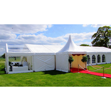 used waterproof soundproof house shape air conditional garden marquee wedding tent 300 persons for events