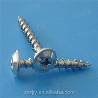 standard galvanized iron nuts and pan head self tapping screw