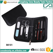 OEM high quality portable 8pcs grooming set manicure kit