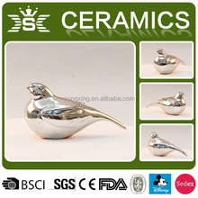 cute plating bird sculpture ceramic home decor arts