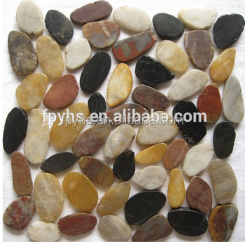 Sliced mixed pebble mosaic