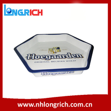 Hexagon shape customized design bar serving tray