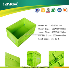 Euro Standard Foldable Plastic Moving Container without Lid for sale