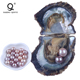 Natural Saltwater Oyster freshwater round shape pearls in oyster shell