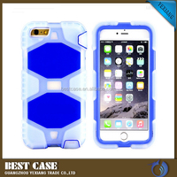 High Quality Silicon PC Belt Clip Robot Combo Case For iPhone 6 Plus 5.5""