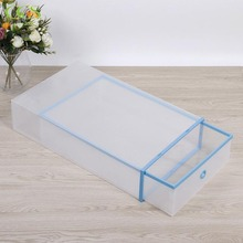 Clear Foldable Boot Storage Boxes Plastic Shoe Box Shoe Storage Organizer Foldable Clear shoe Container for Closet