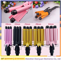 Professional Digital Hair Curling Iron Ceramic Wavy Styling Tools 3 barrel Waver Triple Hair Curler