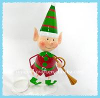 Brilliant elf playing music metal christmas item