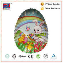 Factory direct sales printed disposable fancy easter egg paper plate