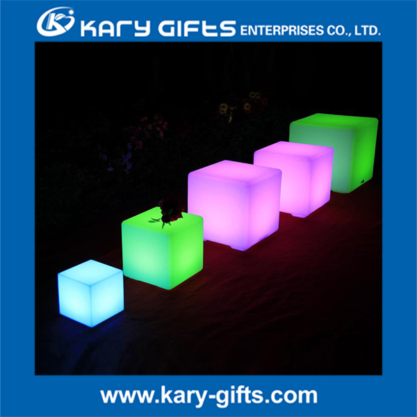 Rechargeable Multi Color Change Lighted Cube LED Furniture
