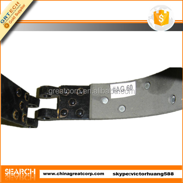 40.35.044 tractor brake band with rubber lining
