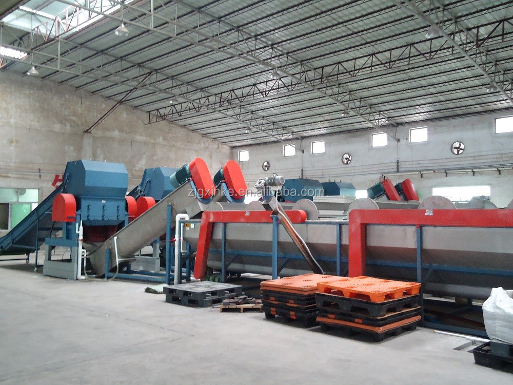 waste Plastic Film Washing grinding crushing drying production line