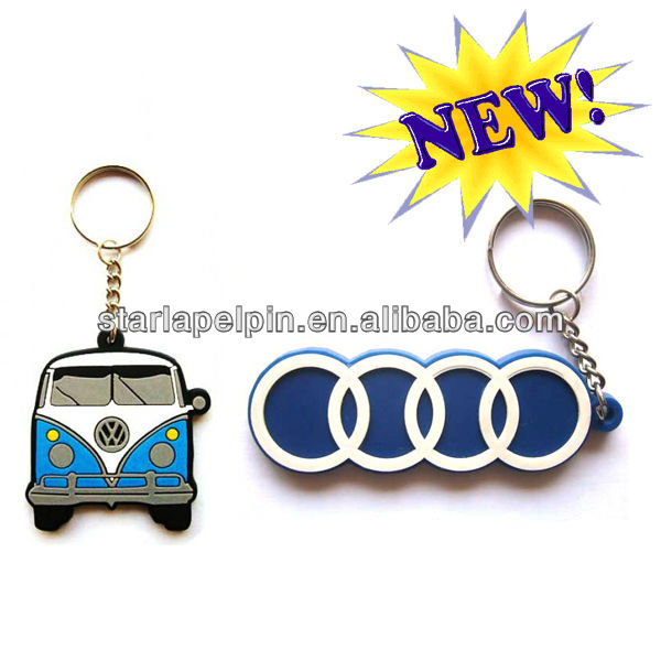 Latest China Supplier Promotion Custom 3D Soft PVC Key Ring Chain