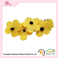 Wholesale custom felt flower hair clip for kids