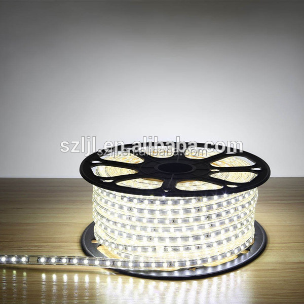 220V SMD 5050 led strip light+power plug white/RGB color 14.4W/M waterproof led Strip