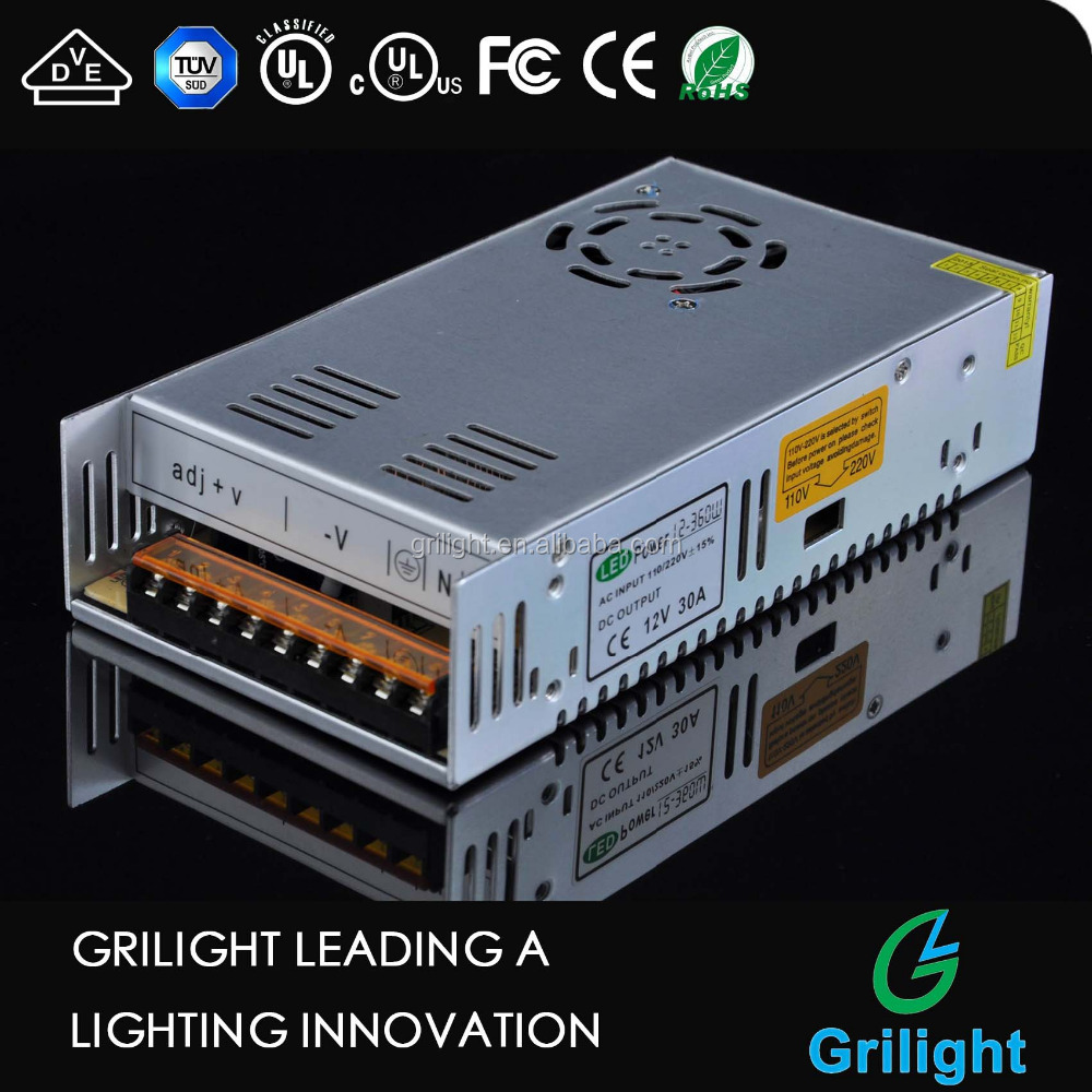 12v 30a 360w led switching power supply 24v switching power supply