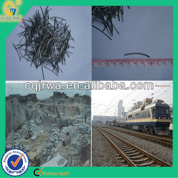 railroad construction material for concrete reinforcement