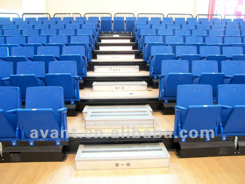 fire-resistant,anti-aging indoor automatic telescopic portable grandstand,bleacher and tribune sports,entertainment use
