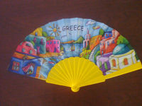 promotion souvenir fan with plastic ribs or wooden ribs