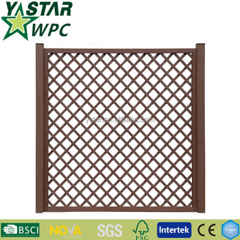 Outdoor wpc composite fence panels waterproof hot sales