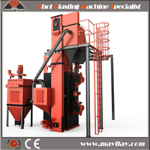 Hanging Chain Type Shot Blasting Booth For Cleaning Anchor Chain