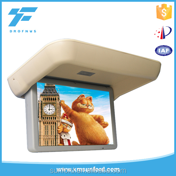 Wholesale Flip up down LCD monitor tv advertising bus screen