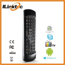 HOT Mini Wireless MX3 Air Mouse Keyboard for TV Samsung 3D flying gyro air mouse 6 axis air mouse keyboard for TV BOX