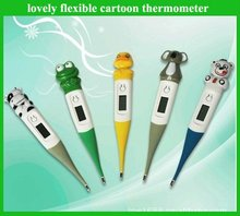 Frog style cartoon waterproof thermometer as Medical Advertisement promotion