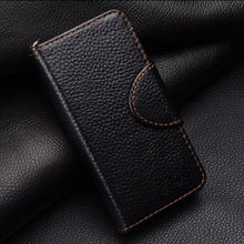 black business men style black Flip leather case for iphone 5c original