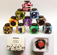 best selling wholesale retail cheapest leopard print fidget cube camouflage fidget cube decompression fidget toys