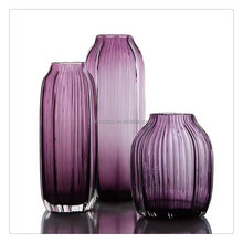 Mouth Blown Colored Glass Vases Centerpiece