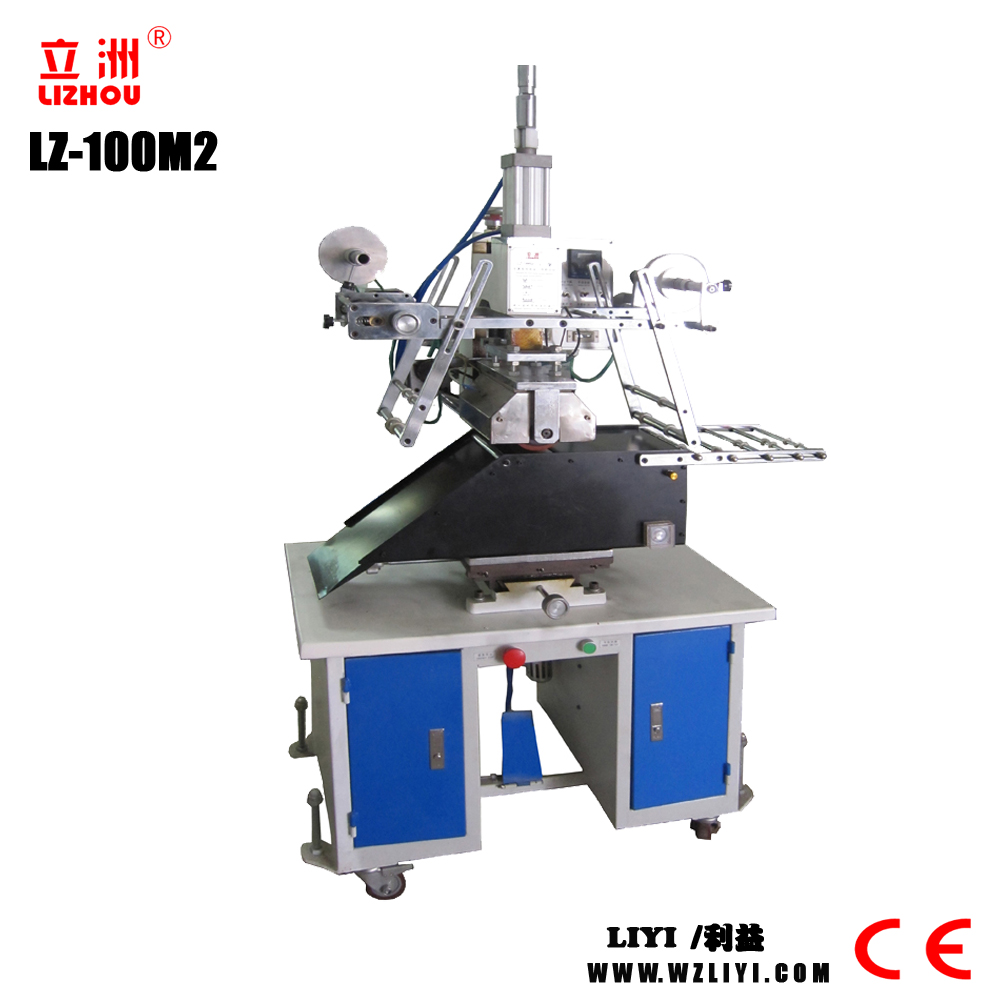LZ100M2 Plane And Cylinder Dual-purpose Stamping/Thermal Transfer Printing Machine With Low Price pneumatic heat press machine