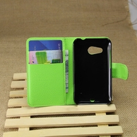 Quality antique leather flip case for htc desire 200