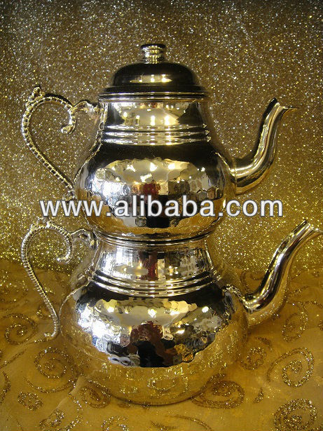 Turkish Traditional Handmade Copper Teapot Set