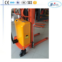 1T 1.5T 2.0T 1.6m-4m lifting semi-electric pallet stacker Warehouse stacker forklift Equipment Electric hydraulic Pallet Truck