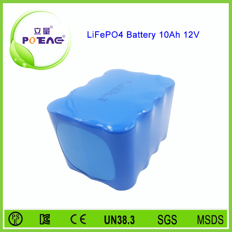 Low price deep cycle 18650 lithium battery pack 12v 10ah for electric bike
