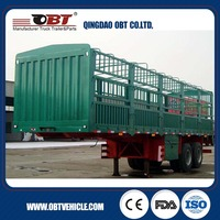 2016 new design famous brand 30t EU standard cattle trailer with ABS