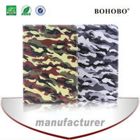 Flip stand camo PU leather tablet case for apple ipad air 5