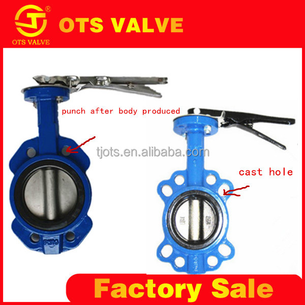 BV-LY-0156 cast iron crane butterfly valves water oil gas valve