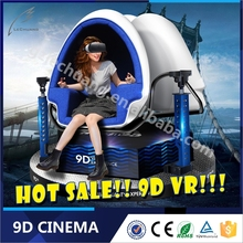 2016 Lechuang 9D VR Egg Funny Electronic Game Machine Motion Simulator For Kids/Adult