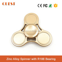 Best Promotional Gift Effective EDC Toy Aluminum/ Zinc Alloy Metal Fidget spinner 3 bar Tri-spinner Finger Hand Spinner