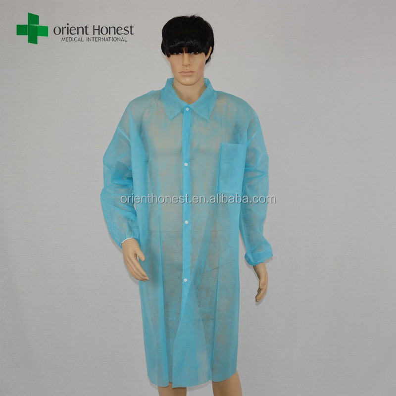 Disposable PP lab coat with high performance isolation protective material