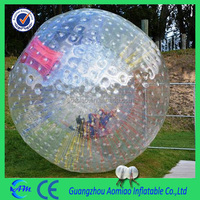 hot sale popular clear human hamster ball with colorful strings/ cheap zorb balls for sale