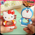 Eco-friendly cute animals shape PVC and metal meterial bottle opener for kids gift