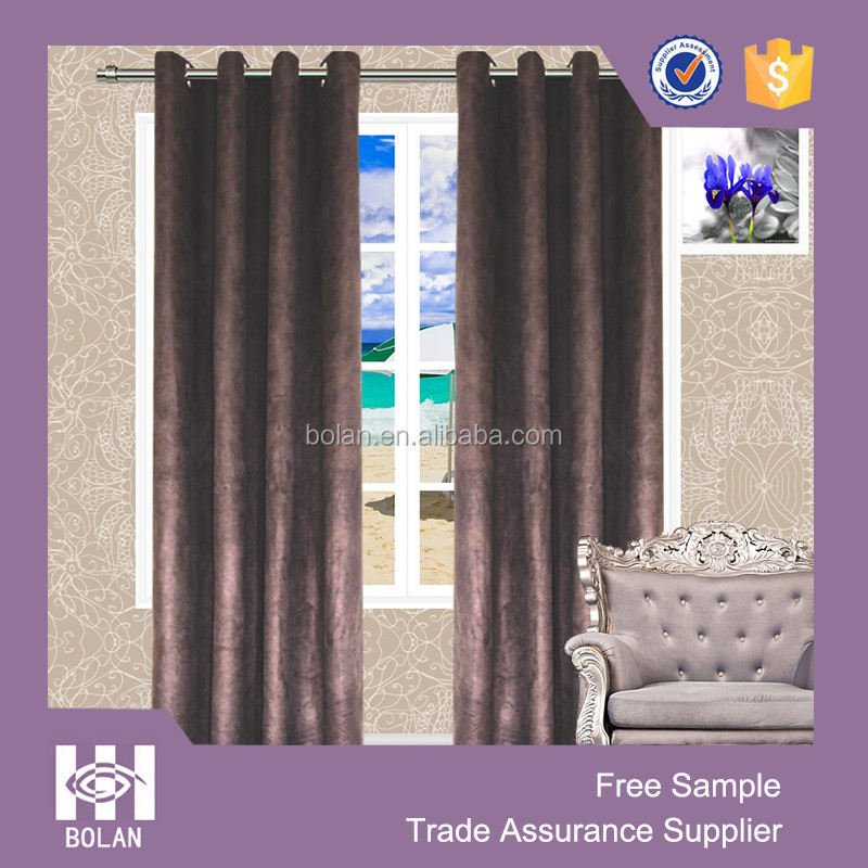 Faux suede window curtain, curtain eyelets style, bedroom window curtain