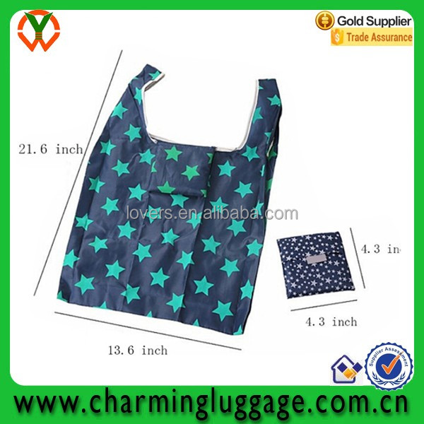 OEM factory direct suppy Square foldable shopping bag 190T polyester factory